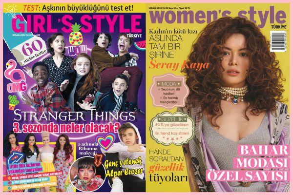 Women's Style Türkiye ve Girl's Style Türkiye Nisan 2018 sayısı bayilerde