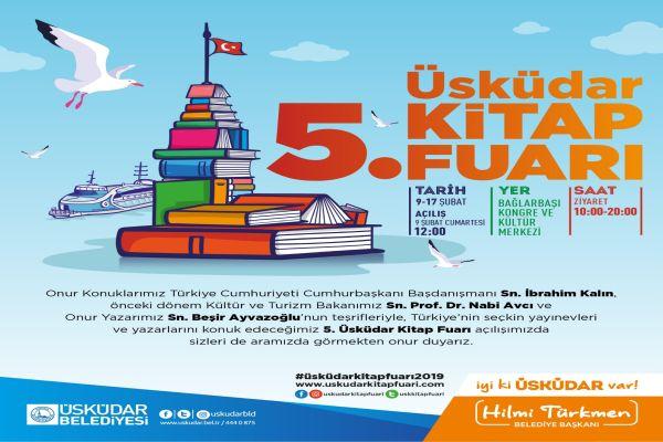 Üsküdar'da 5. kitap fuarı sevenlerine kapılarını açıyor