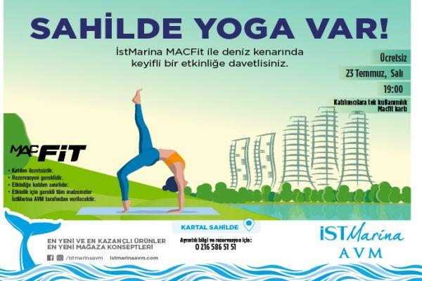 İstMarina AVM'de şehrin yorgunluğu açık havada yoga ile atılacak!