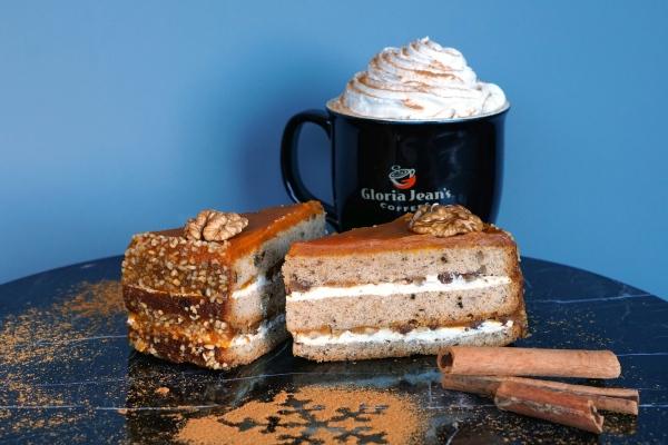 Gloria Jean's Coffees'in balkabaklı pastası hazır