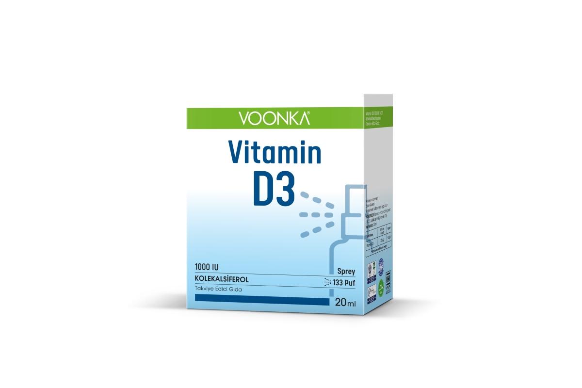 Voonka vitamin D3 kas & kemiklere katkıda bulunuyor