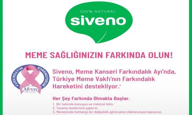 Siveno Meme Kanseri Farkındalık Ayı'nda Türkiye Meme Vakfı'nı destekliyor